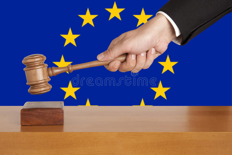 Download Gavel and Flag of Europe stock image. Image of gavel - 24072181