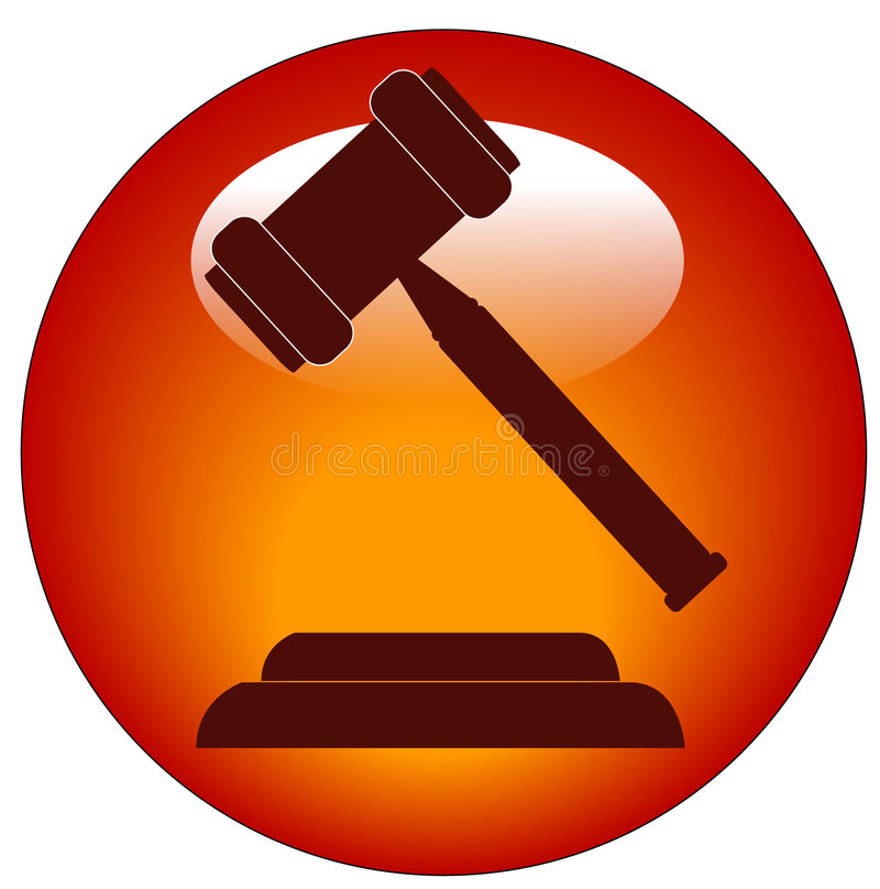 Gavel icon or button