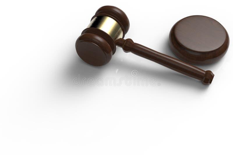 Gavel judge on white background. 3d rendering gavel judge on white background royalty free stock photography
