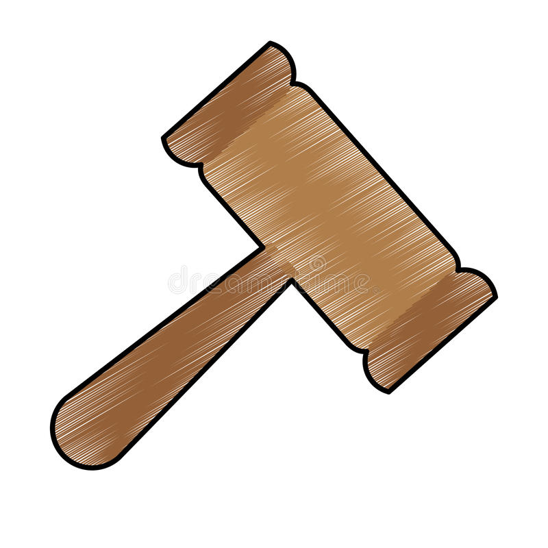 Gavel justice icon image. Vector illustration design royalty free illustration
