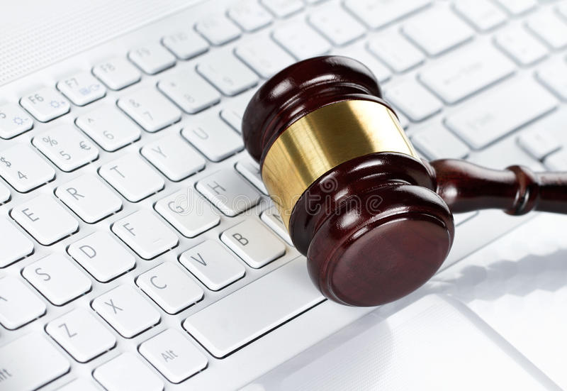 Download Gavel at the keyboard stock photo. Image of crime, auction - 25981590
