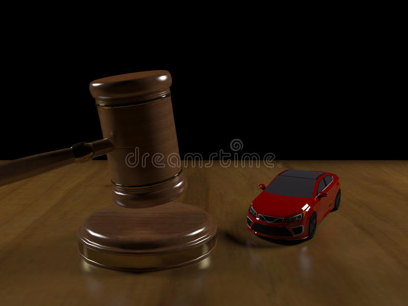 Gavel and machine royalty free stock photos