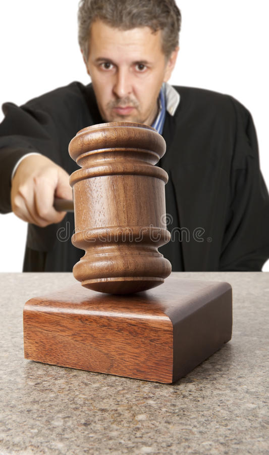 Gavel and male judge stock images