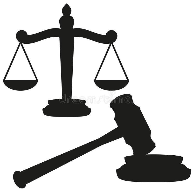 Download Gavel and scales stock vector. Image of scales, judge - 26740742