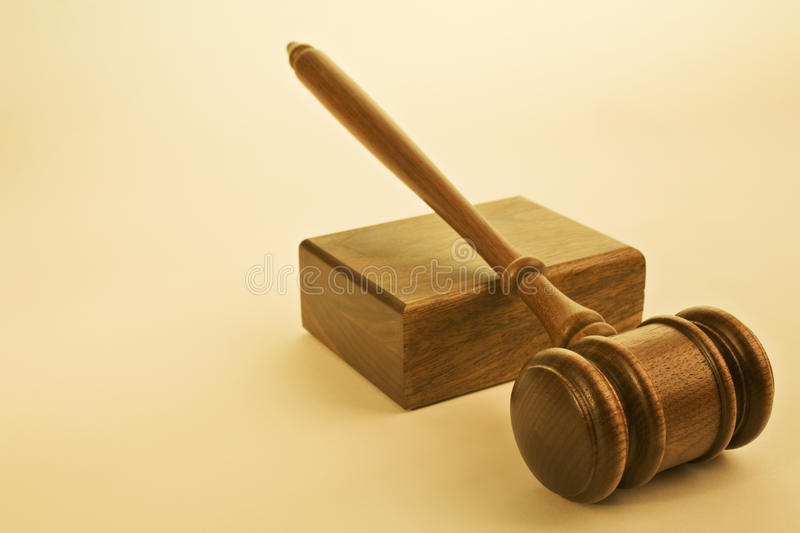 Download Gavel And Sound Block On Warm Plain Background Stock Photo - Image: 29146264