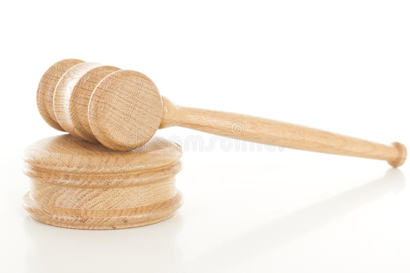 Gavel on sounding block royalty free stock images