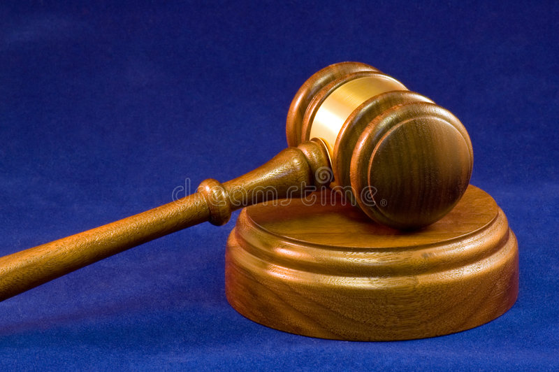 Gavel and wooden block stock photography