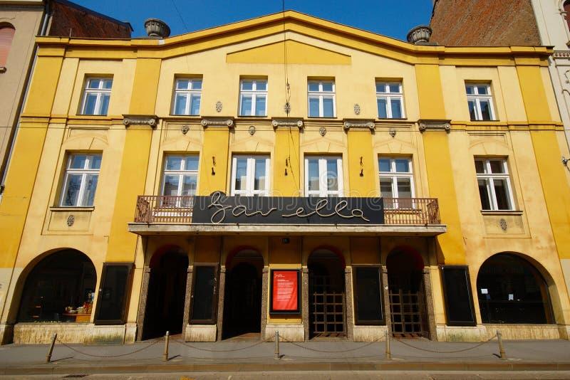 Gavella剧院,萨格勒布 免版税图库摄影