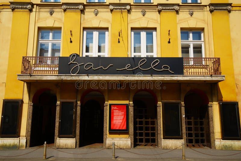 Gavella剧院,萨格勒布 免版税库存图片