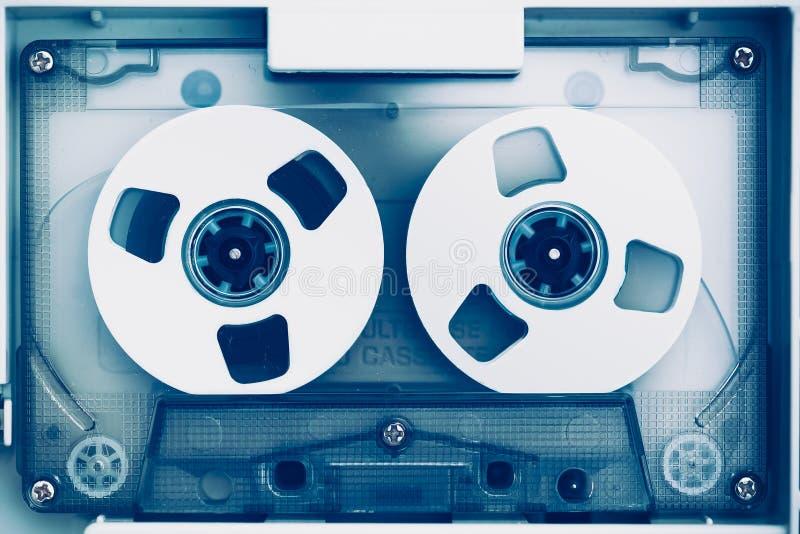 Gaveta do estojo compacto da cassete áudio do vintage imagem de stock