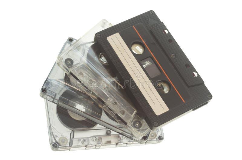 Gaveta ou cassete áudio do vintage isolada fotos de stock