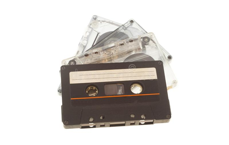 Gaveta ou cassete ?udio do vintage isolada fotografia de stock royalty free