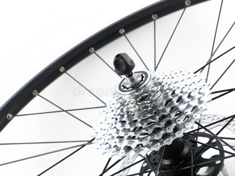 Gaveta traseira da roda denteada da bicicleta fotos de stock royalty free