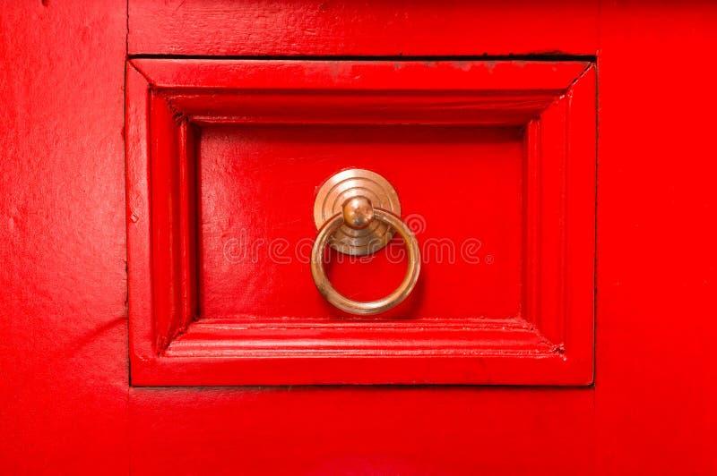 Gaveta vermelha fotografia de stock