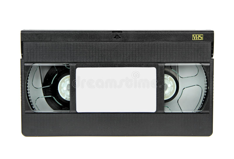 Gaveta video de VHS isolada no fundo branco foto de stock