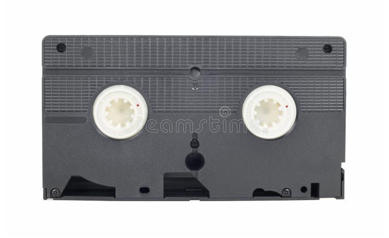 Gaveta video do VHS do vintage velho no fundo branco imagens de stock