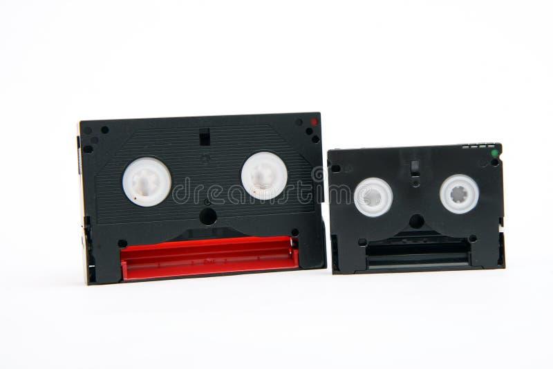 8 gavetas video do dv do milímetro e do minuto foto de stock
