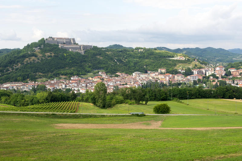 Gavi (Piedmont, Itália) foto de stock royalty free