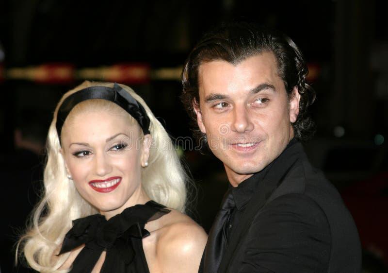 Gavin Rossdale en Gwen Stefani stock foto