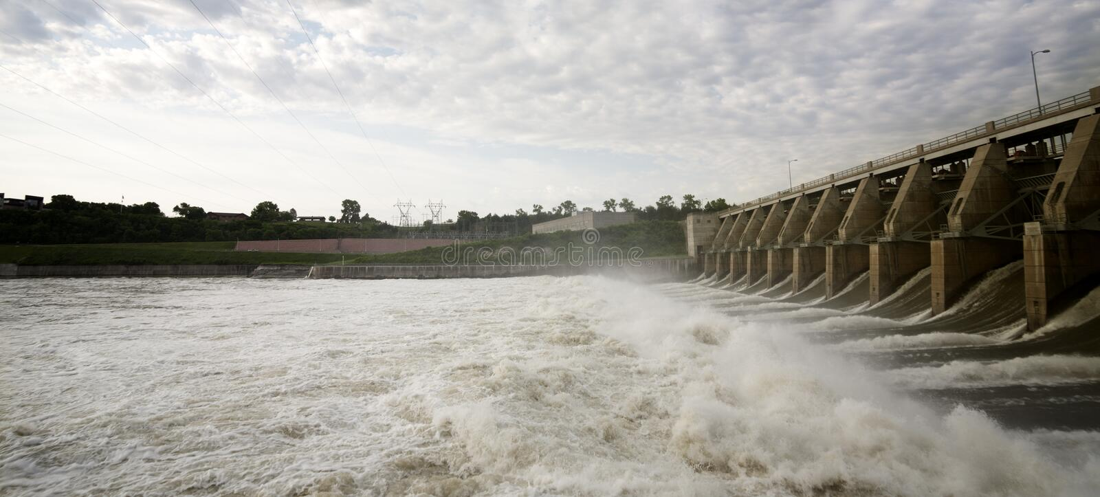 Gavins Point Dam Tailwaters royalty free stock images