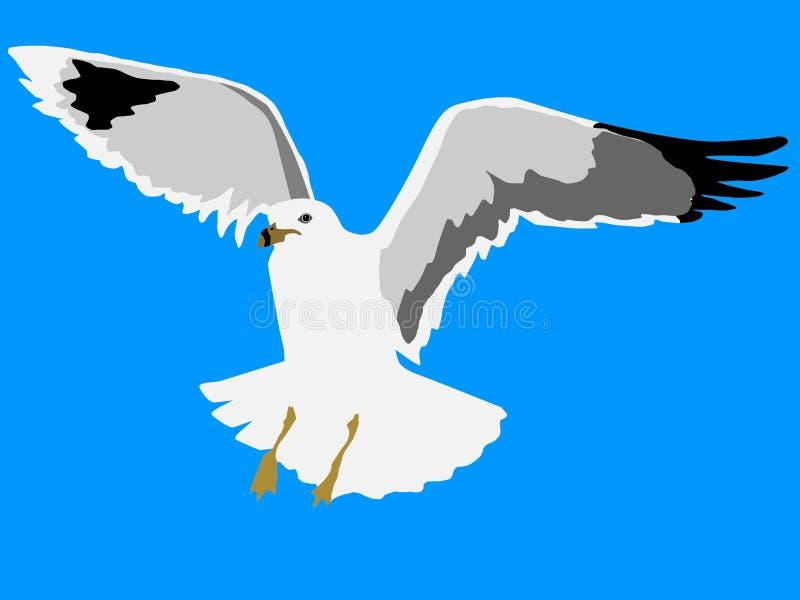 Gaviota del vuelo ilustración del vector