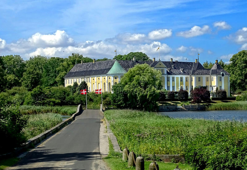 Gavno slott, Naestved, Danmark royaltyfri fotografi