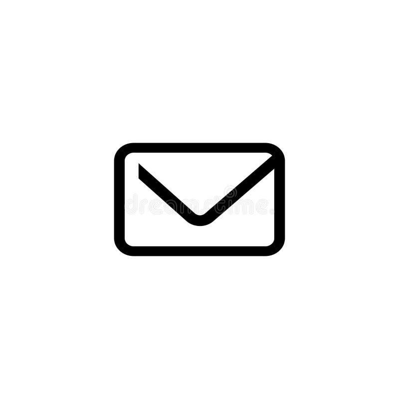 Gawędzi email listowej poczty wiadomości ikony kopertowego wektor royalty ilustracja