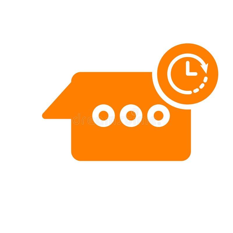 Gawędzi ikonę, multimedialna ikona z zegaru znakiem Gawędzi ikonę i odliczanie, ostateczny termin, rozkład, planistyczny symbol royalty ilustracja