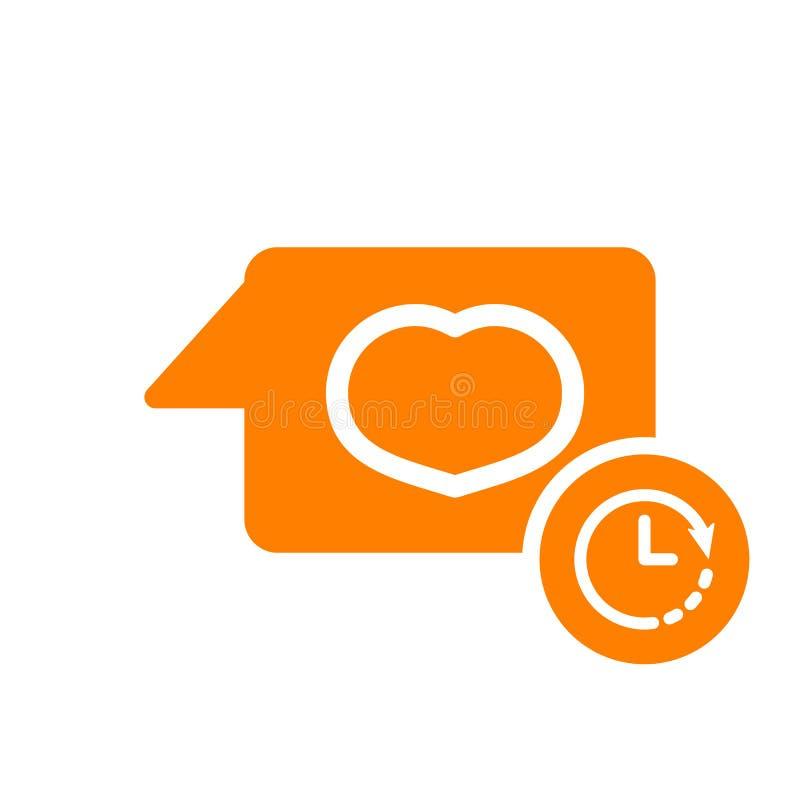 Gawędzi ikonę, multimedialna ikona z zegaru znakiem Gawędzi ikonę i odliczanie, ostateczny termin, rozkład, planistyczny symbol ilustracji