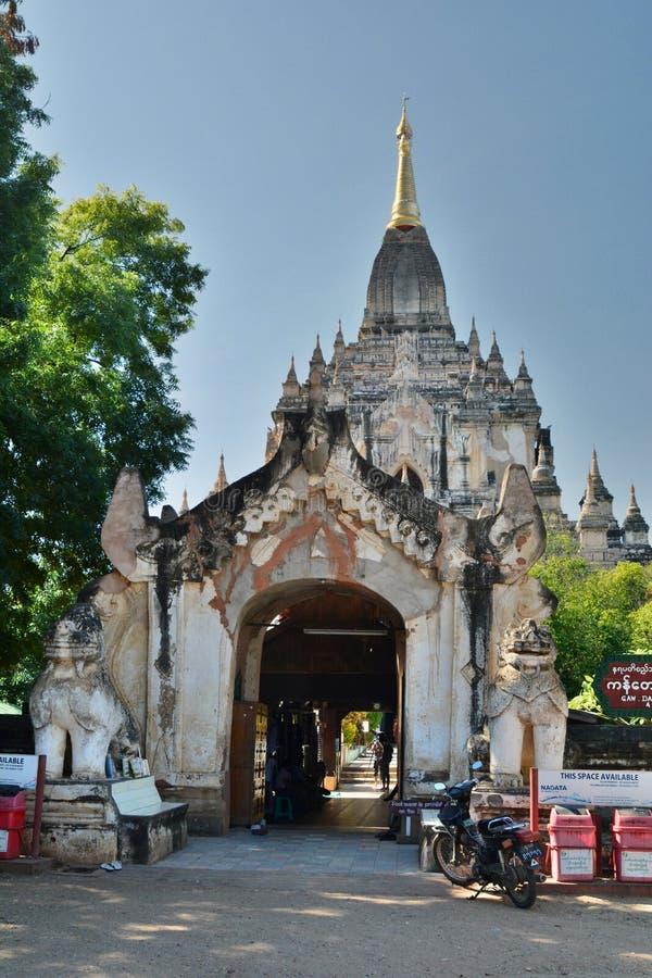 Gawdawpalin寺庙大门 Bagan 缅甸 免版税库存图片