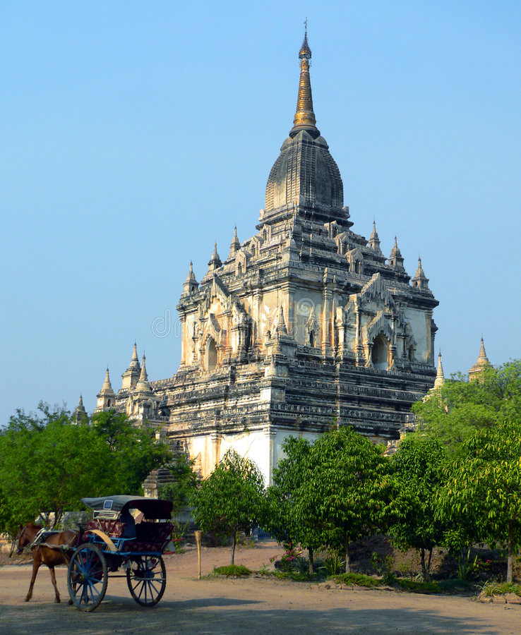 Gawdawpalin Temple Bagan Archaeological Zone. Myanmar (Burma) stock image