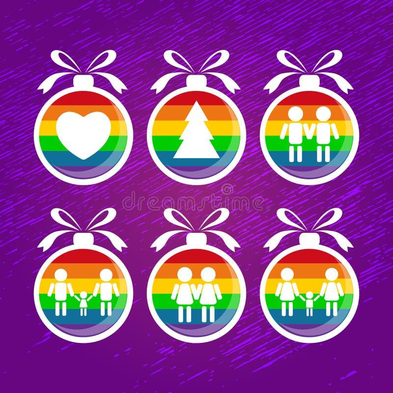 Gay christmas-06 illustrazione di stock