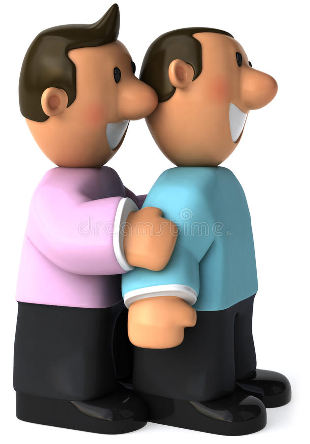 Gay couple royalty free illustration