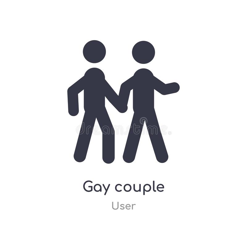 Gay couple icon. isolated gay couple icon vector illustration from user collection. editable sing symbol can be use for web site. And mobile app stock illustration
