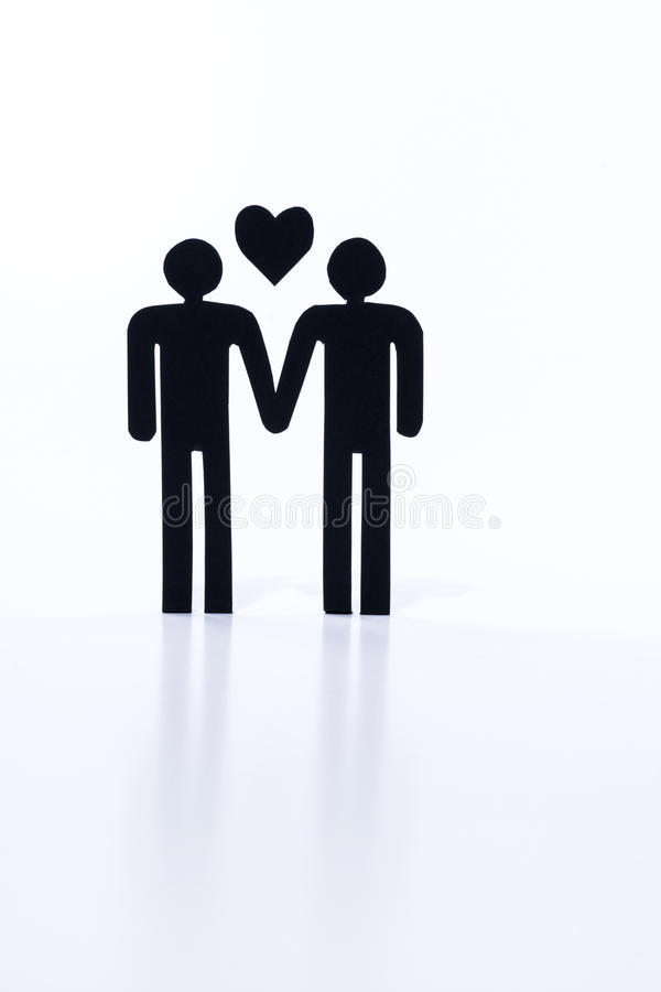 Gay couple, same-sex marriage, figurines stock photo