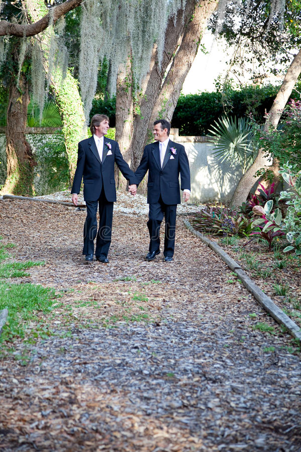 Gay Couple - Walking Through Life Together stock photo