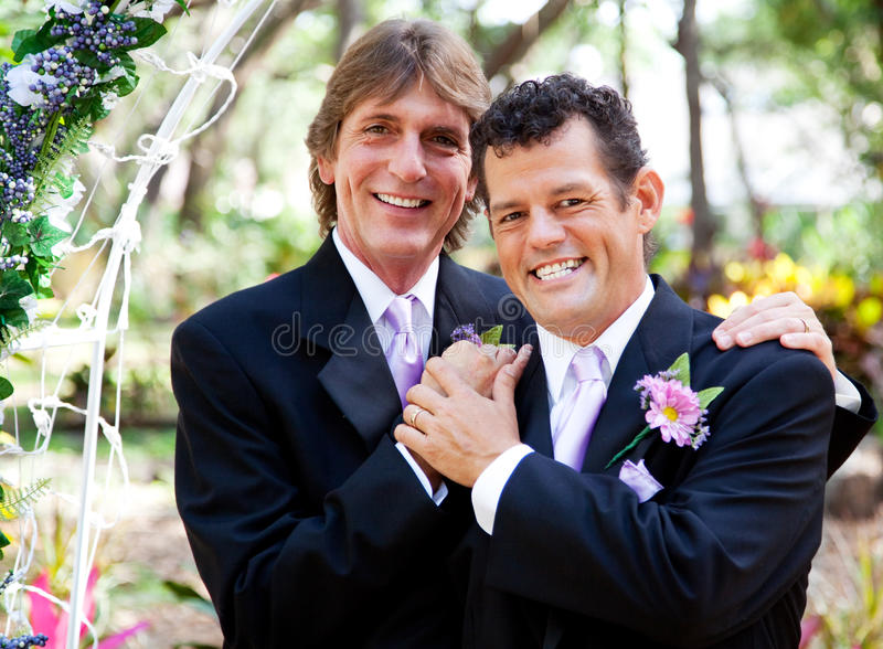 Gay Couple - Wedding Portrait royalty free stock photography