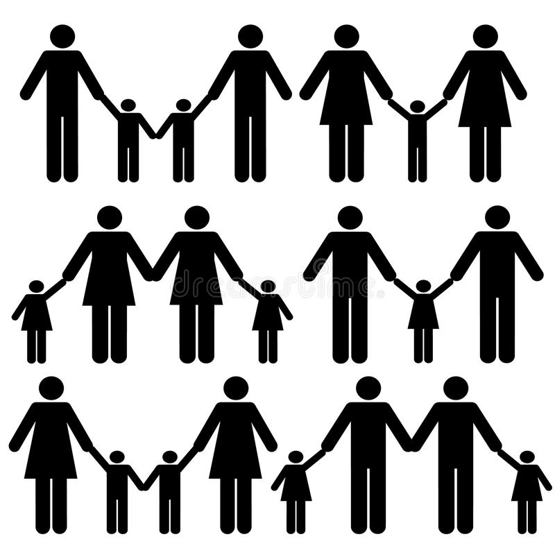 Download Gay family icons stock vector. Image of brother, icon - 14534552
