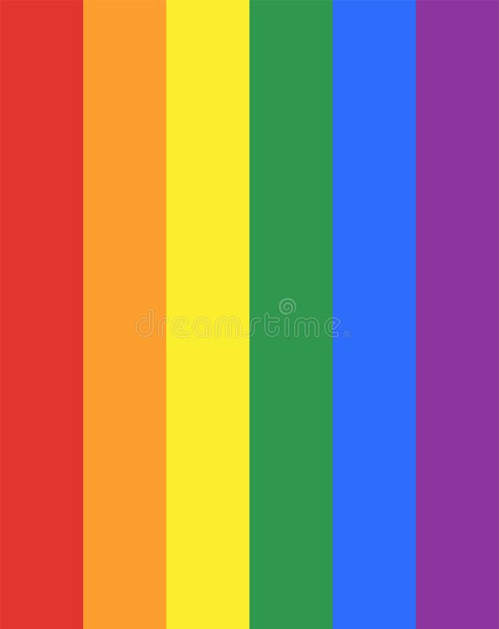 Gay  flag or LGBT  flag sign isolated. Gay culture symbol. Homosexual pride. Lesbian sign. Transsexual flag. Human rights and freedom. Urban culture stock photos