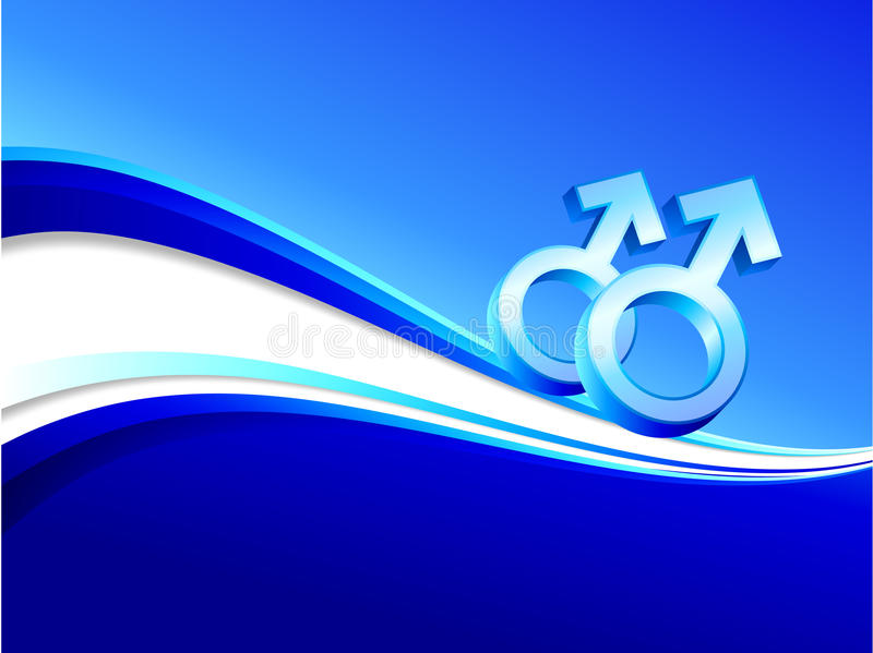 Download Gay Gender Symbols On Abstract Blue Background Stock Photos - Image: 12393433
