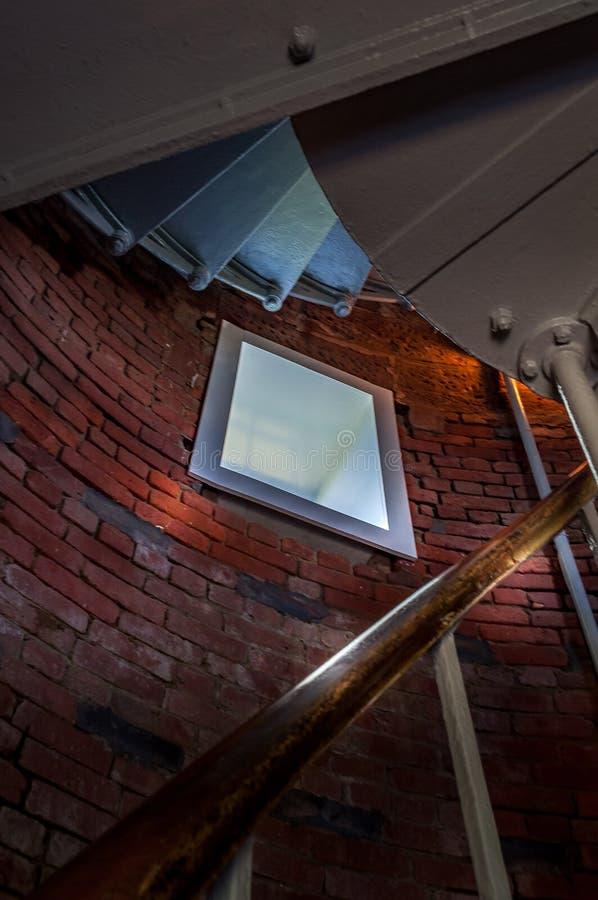 Gay Head Light interior view with window. Martha`s Vineyard stock photo