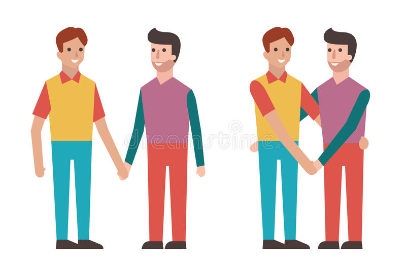 Cartoon Characters Holding Hands : Gay holding hands stock vector image