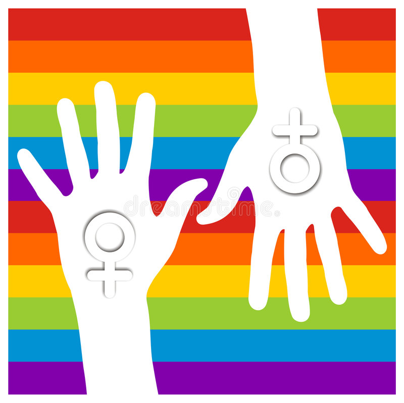 Gay lesbian hands royalty free stock image