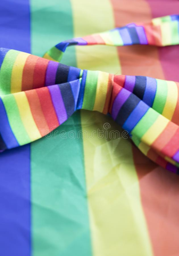 Gay lesbian LGBT bow tie royalty free stock photography