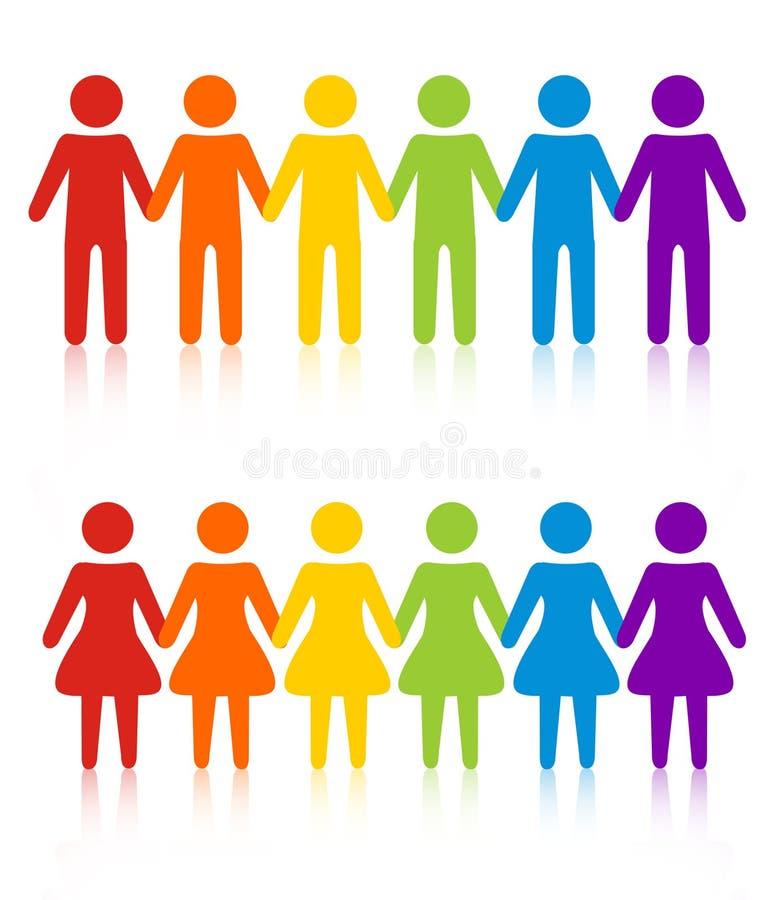 Download Gay men women stock vector. Image of banner, clipart - 24222914