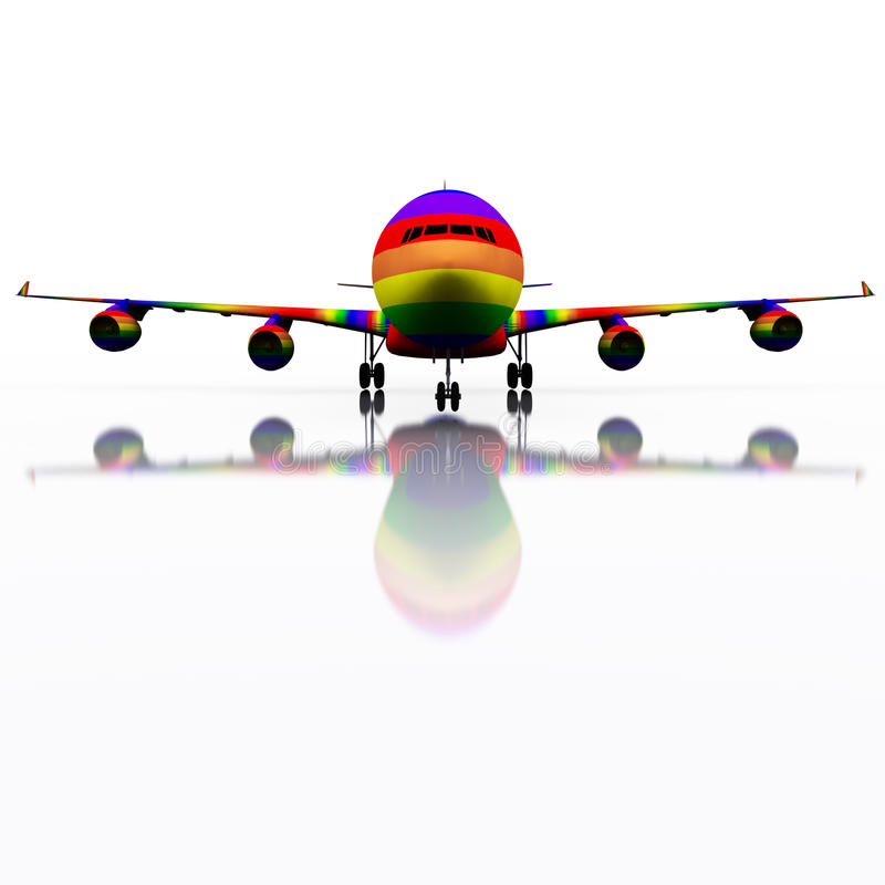Gay Plane Taking Off royalty free stock image