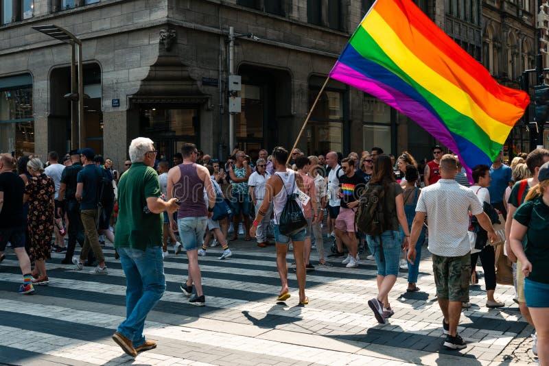 Gay Pride à Amsterdam 2019 photos libres de droits