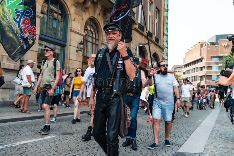 Gay Pride à Amsterdam 2019 images libres de droits