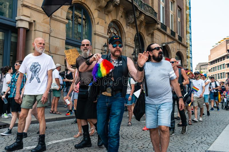 Gay Pride à Amsterdam 2019 images stock