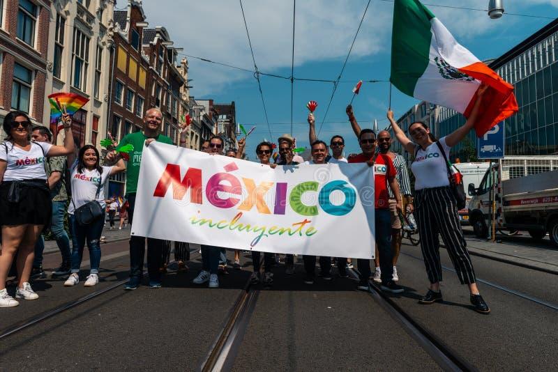 Gay Pride à Amsterdam 2019 photographie stock libre de droits